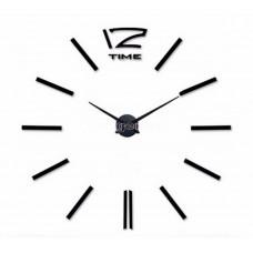 Настенные объемные часы до 1м с полосками diy сделай сам Art Clock 3d большие черные