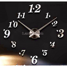 Часы 3d объемные разборные с арабск цифр и сердечками  сер до 1м