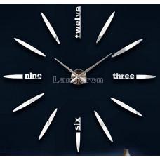 Часы 3d объемные разборные с полосками надписью серебро  до 1м