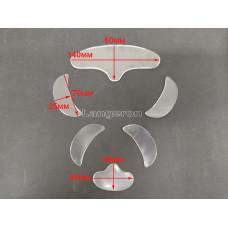 Силиконовые патчи от моршин возле глаз 1 пара + носогубки 1 пара + лоб + подбородок
