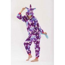 Пижама Единорог Скай фиолетовый (змейка) S 130 на рост 150-155