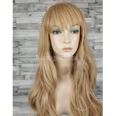 Парик блонд волнистый 70см с пробором и челкой