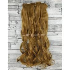 Волосы на заколках набор русый золотистый №26 волнистые трессы из 6 тресс 16 клипс