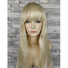 Парик блонд ровный 70см с прямой челкой