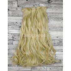 Волосы на заколках набор блонд №613 волнистые трессы из 6 тресс 16 клипс