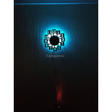 Часы настенные из фанеры Круглые светильник-ночник с пультом