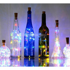 Лента-пробка светящаяся 3метра 30 светодиодов теплый белый для бутылок LED гирлянда