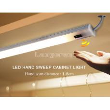 Лампы светодиодные подсветка для кухни шкафа 2шт 50см теплый белый с сенсором движения