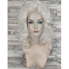 Парик блонд волнистый 45см средней длины платиновый