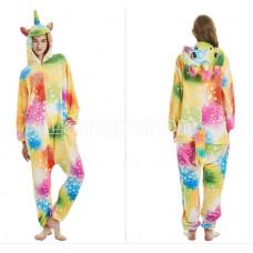 Пижама Единорог разноцветный со звездами S 130 на рост 145-155