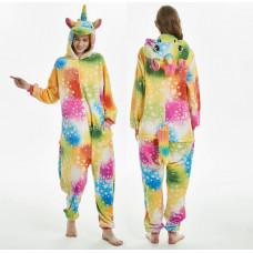 Пижама Единорог разноцветный со звездами М на рост 160-170