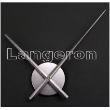 Часовой механизм серебрянный с серебрянными стрелками 30см