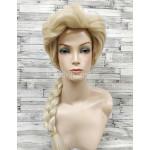 Парик блонд прямой 70см принцессы Эльзы из мультфильма Холодное сердце с косой