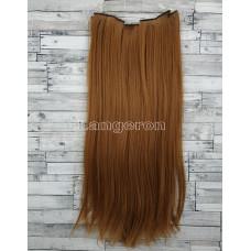 Волосы на заколках набор рыжие 55см 140г №30 ровные трессы из 6 тресс 16 клипс