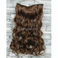 Трессы волнистые светло-коричневые волосы на заколках 90г