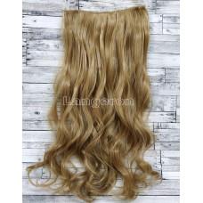 Трессы волнистые блонд волосы на заколках 90г