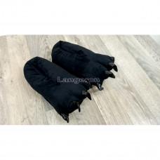 Тапки лапы черные 36-39 размер