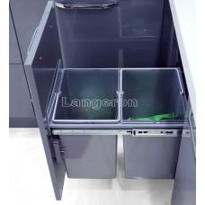 Парик каре разноцветный радуга с челкой и пробором 636-3