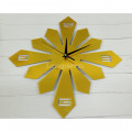 Часы настенные золото акриловые абстракция