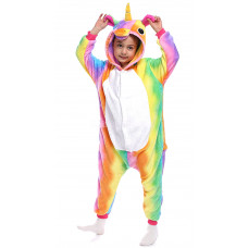 Пижама Единорог радужный на рост 105-110см разноцветный кигуруми