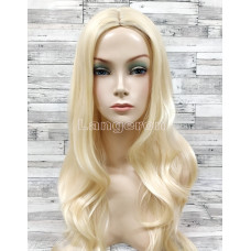 Парик блонд волнистый 70см с пробором блонд