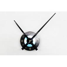 Часовой механизм 30 см минутная стрелка, голубой с римскими цифрами