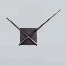 Часовой механизм квадратный черный. Стрелки 23,5/31,5