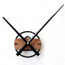 Часовой механизм  круглый, черный акрил дерево стрелки 30 см