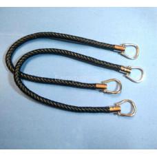 Ручка для сумки кожзам плетенная (63см) пара цвет фурнитуры - золото серебро  черный