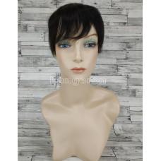 Накладка полупарик шиньон черный из натуральных волос