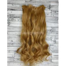 Волосы на заколках набор блонд золотистый русый волнистые трессы из 6 тресс 16 клипс