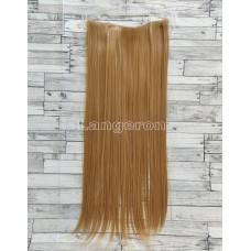 Волосы на заколках на одной ленте русый золотистый ровные №27 трессы