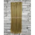 Волосы на заколках набор блонд темный №15 ровные трессы из 6 тресс 16 клипс