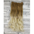 Волосы на заколках набор русый омбре в блонд №27T613 волнистые трессы из 6 тресс 16 клипсг