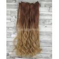 Волосы на заколках набор коричневые медные омбре в блонд 30T25 волнистые трессы из 6 тресс 16 клипс
