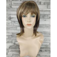 Парик русый блонд двухцветный средней длины прямой 40см №3045А оттенок 6B24
