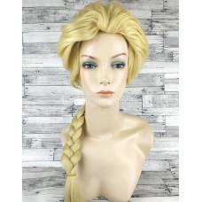 Парик блонд золотой с косой принцессы Эльзы