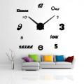 Часы 3d объемные разборные с цифрами и словами черные  до 1м