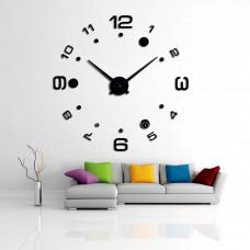 Часы 3d объемные разборные больш и мал цифр + круги черные до 1м