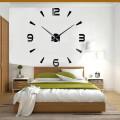 Часы 3d объемные разборные с 4 цифрами и штрихами  черные до 1м