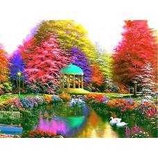 Картина для выкладывания камнями Бабочки на цветах 30*40см