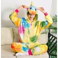 Пижама Единорог звездный оранжевый/желтый на рост 125-130см кигуруми