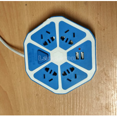 Переноска с 2 USB и 4 розетками