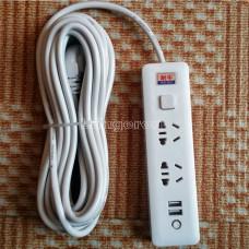 Переноска с 2 USB и 2 розетками