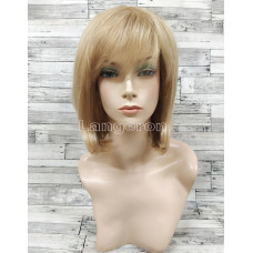 Парик из натуральных волос каре блонд женский