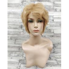 Парик из натуральных волос женский светлый короткий модель М12 натуральные волосы