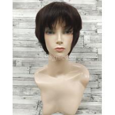 Парик из натуральных волос модель М14 черный