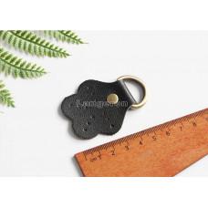 Ручкодержатель для ручки сумки черного цвета в виде цветка 4см*5см с кольцом на конце