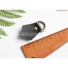 Ручкодержатель для ручки сумки черного цвета с углом на конце 5см*3.5см с кольцом на конце