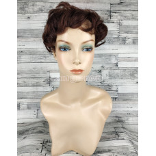 Накладка из натуральных волос коричневая подкрученная